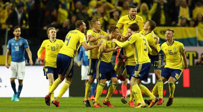 Плей-офф к ЧМ-2018: Швеция минимально победила Италию в Стокгольме