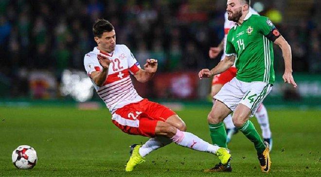 Шер отличился грязным подкатом в матче Северная Ирландия – Швейцария, за что получил лишь желтую карточку