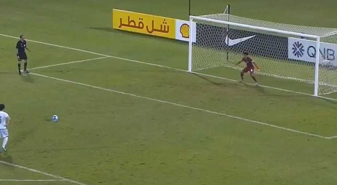 Півзахисник збірної Катару U-19 відбив пенальті, замінивши вилученого голкіпера