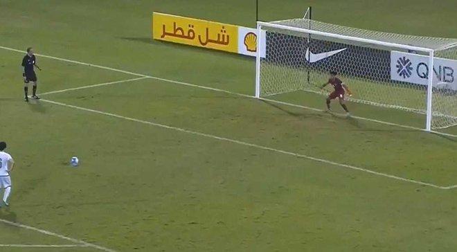 Полузащитник сборной Катара U-19 отразил пенальти, заменив удаленного голкипера