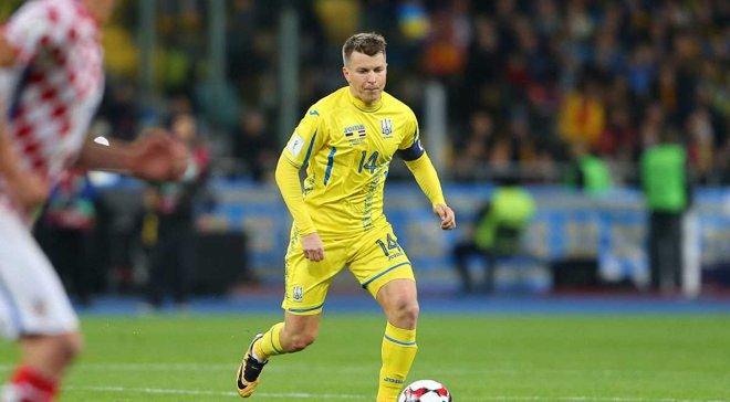 Ротань вийшов на 3 місце за кількістю матчів за збірну України