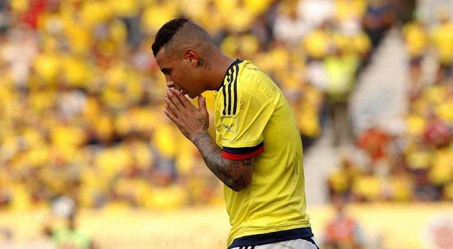Півзахисник збірної Колумбії Кардона вибачився за расистський жест на адресу корейських гравців