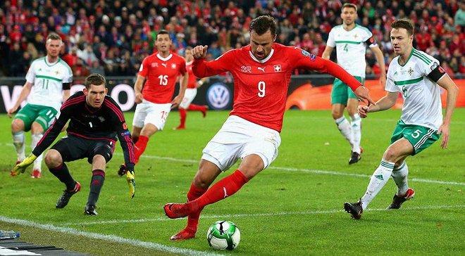 Швейцария не победила Северную Ирландию, но вышла на чемпионат мира
