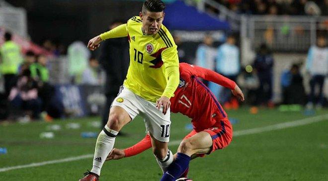 Товариські матчі: Колумбія розгромила Китай, Південна Корея та Сербія зіграли внічию
