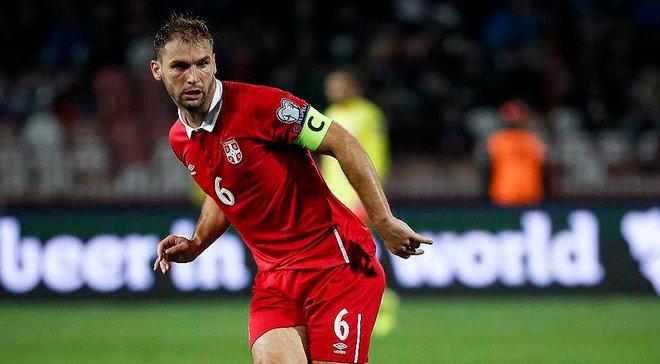Івановіч провів 100-й матч за збірну Сербії