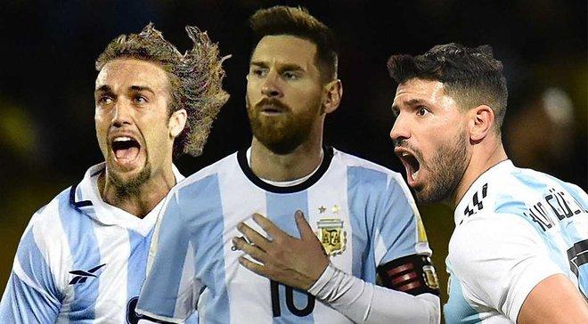 Агуэро вышел на чистое 3-е место в списке бомбардиров сборной Аргентины