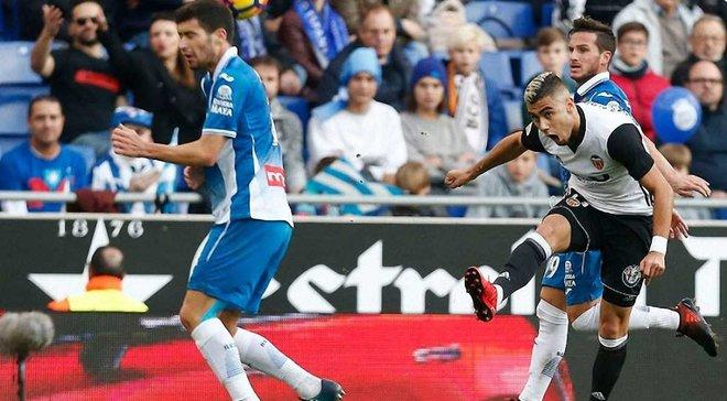 Валенсія здобуває впевнену виїзну перемогу над Еспаньйолом