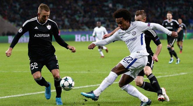 Челсі розгромив Карабах завдяки дублю Вілліана та вийшов до 1/8 фіналу Ліги чемпіонів