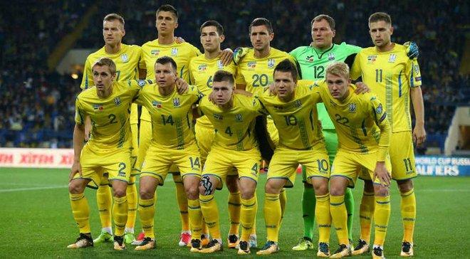 Сборная Украины опустилась на 5 позиций в обновленном рейтинге ФИФА