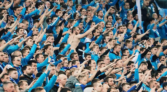 Фанаты Зенита поддержали военного преступника на матче Лиги Европы – клуб ждут серьезные санкции