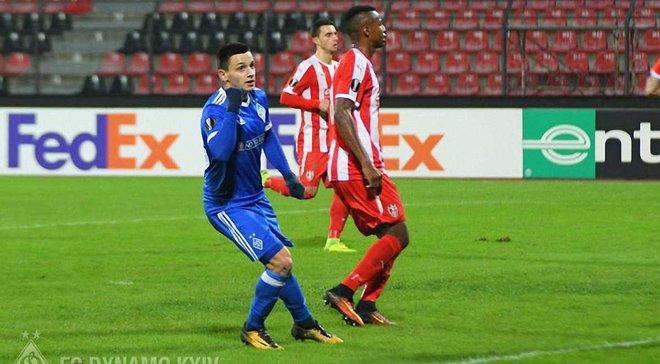 Нападающий Динамо Русин стал 4-м самым молодым автором гола в еврокубках среди украинцев