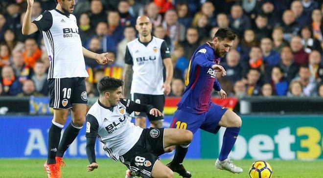 Игроки и тренер Валенсии признали, что арбитры ошиблись, не засчитав гол Месси