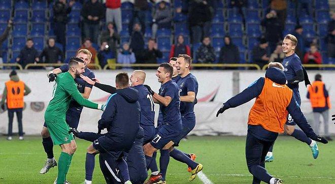 СК Днепр-1 минимально переиграл Львов и прошел в полуфинал Кубка Украины