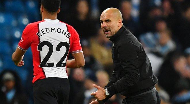 Гвардиола набросился на Редмонда и обвинил его в затягивании времени после матча Манчестер Сити – Саутгемптон