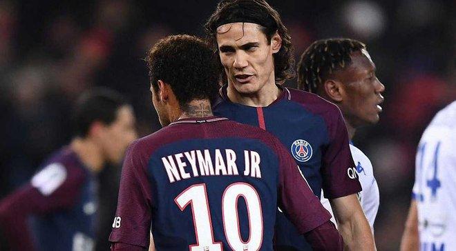Неймар через заклик фанатів ПСЖ дозволив Кавані пробити пенальті у матчі з Труа