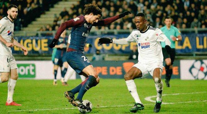 Кубок французской Лиги: ПСЖ в большинстве победил Амьен и вышел в 1/2 финала