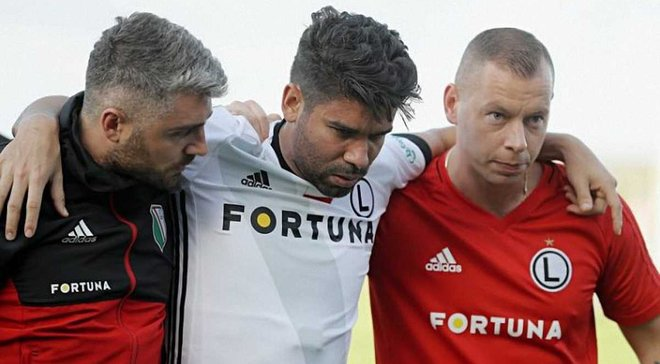 Едуардо отримав серйозну травму через 15 хвилин після дебюту за Легію
