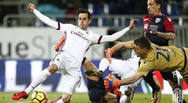Милан одержал волевую победу над Кальяри