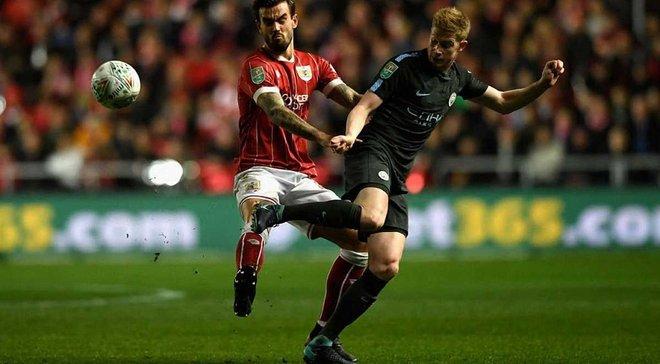 Манчестер Сити с Зинченко в составе вновь победил Бристоль Сити и вышел в финал Кубка Лиги