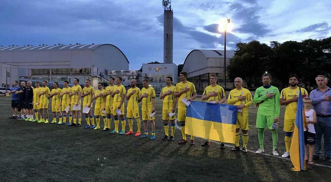 Сборная Украины среди ветеранов одержала первую победу в Бразилии