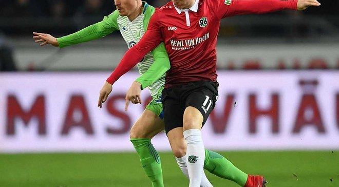 Ганновер програв Вольфсбургу через помилку голкіпера