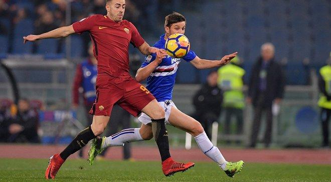 Рома поступилася Сампдорії та продовжила безвиграшну серію в чемпіонаті до 6 матчів