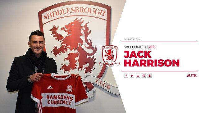 Харрісон підписав контракт з Манчестер Сіті та перейшов в оренду у Мідлсбро