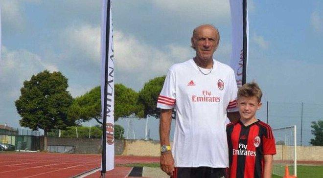 Мілан запросив на збори 10-річного українського хлопця Білика