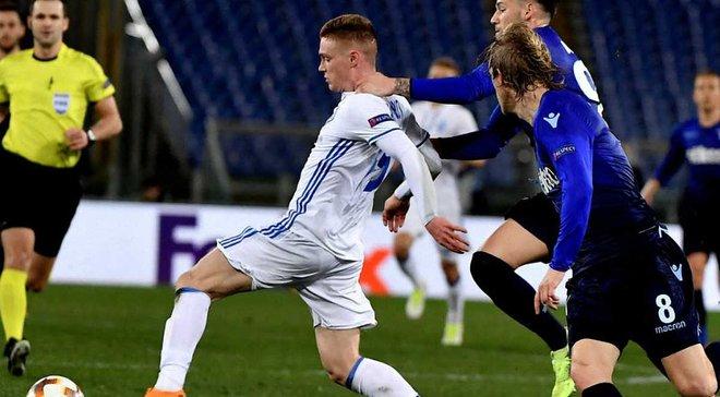 Лаціо – Динамо: Циганков забив гол ударом п'ятою