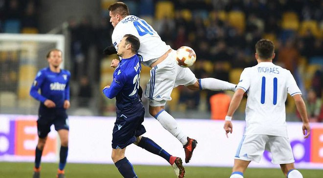 Динамо дома проиграло Лацио и вылетело из Лиги Европы