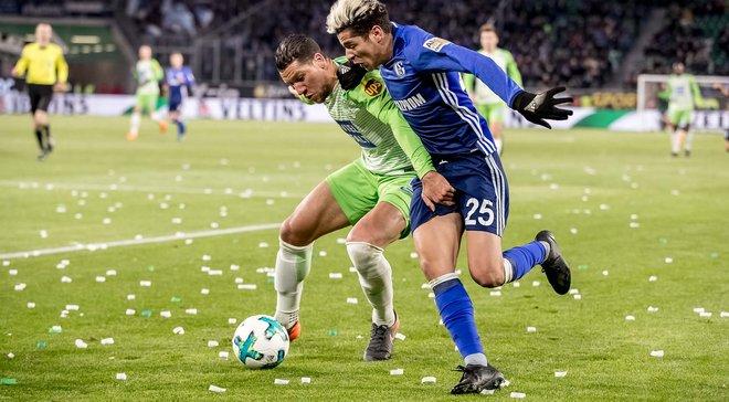 Шальке вырвал победу у Вольфсбурга, Коноплянка на поле не вышел