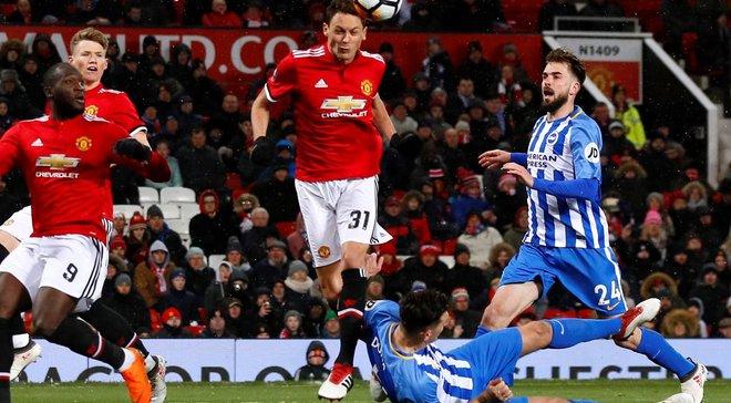 Кубок Англии: Манчестер Юнайтед победил Брайтон и вышел в 1/2 финала
