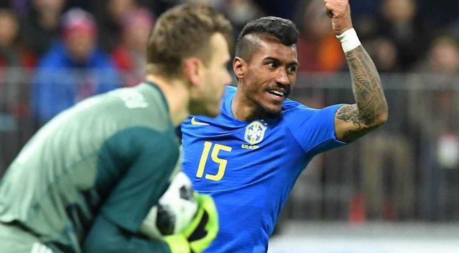 Бразилия разгромила Россию в Москве, Тайсон и Фред вышли на замену