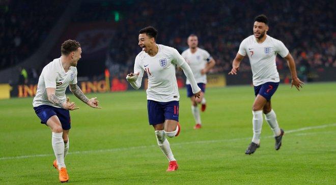 Англия минимально одолела Нидерланды на выезде