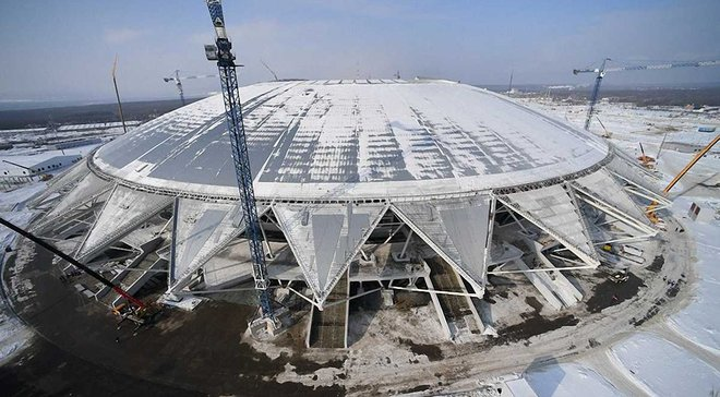"""""""Здесь до сих пор нет поля"""". Стадион в Самаре проблемно готовится к ЧМ-2018"""