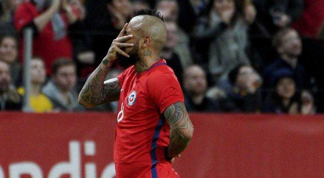 Видаль забил фантастический гол в ворота Швеции