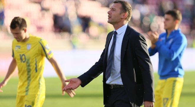 В сборной Украины Шевченко дебютировали 13 футболистов
