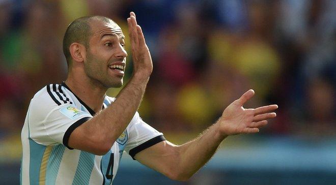 Маскерано повторил рекорд Дзанетти по количеству матчей в сборной Аргентины