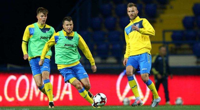 Сборная Украины может сыграть с Албанией в Швейцарии