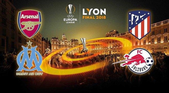 Результати жеребкування 1/2 фіналу Ліги Європи 2017/18