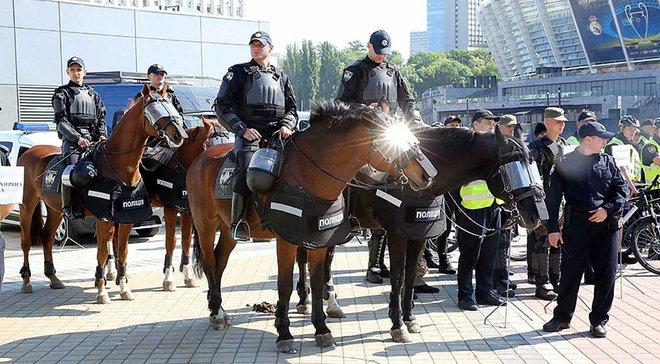 Финал Лиги чемпионов в Киеве: подразделения МВД провели учения на НСК Олимпийский