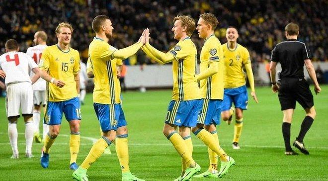 ЧМ-2018: сборная Швеции объявила окончательную заявку на турнир