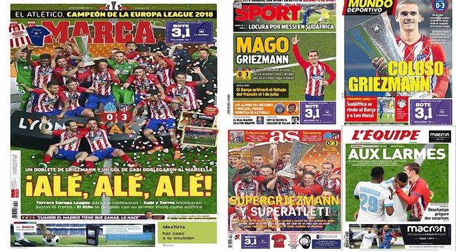 """""""Маленький принц"""" короновал себя на родной земле. Финал Лиги Европы Марсель – Атлетико в обзоре испанских СМИ"""