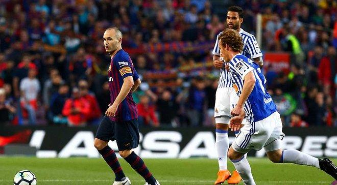 Барселона в последнем матче Иньесты на Камп Ноу победила Реал Сосьедад