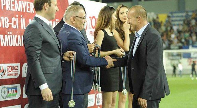 Григорчук получил серебряную медаль чемпионата Азербайджана