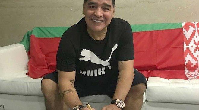 Динамо Брест в Абу-Даби представило Марадону как председателя правления клуба