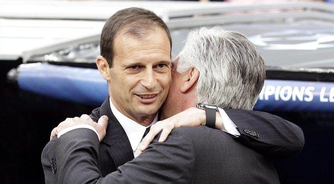 Аллегри поздравил Анчелотти с назначением тренером Наполи