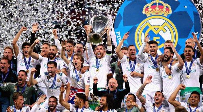 Финал Лиги чемпионов 2017/18: церемония награждения победителя