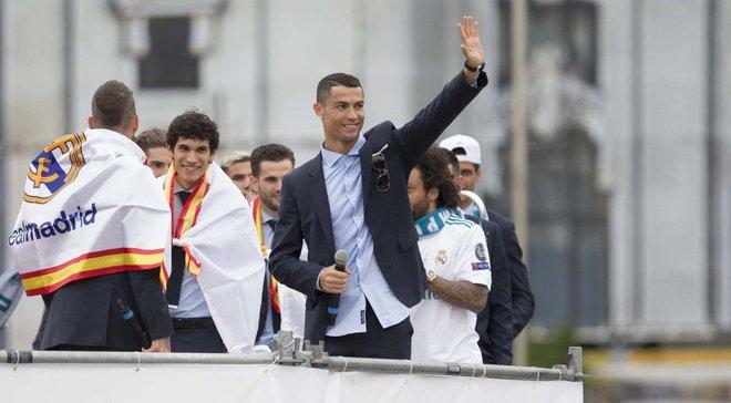 Роналду заспівав дивну пісню про допінг під час чемпіонського параду в Мадриді