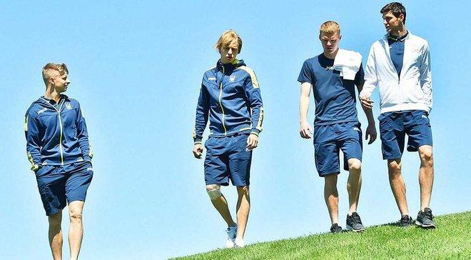 Игроки сборной Украины сыграли в гольф
